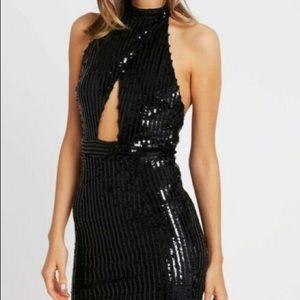 NWT Tiger Mist Portia black sequin dress (large)